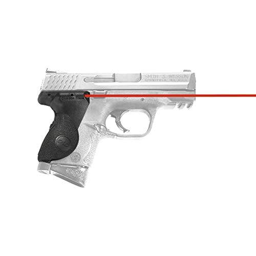 Crimson Trace LG-661 Lasergrips con láser rojo, construcción resistente y activación instintiva para pistolas compactas Smith & Wesson M&P, disparo defensivo y competencia