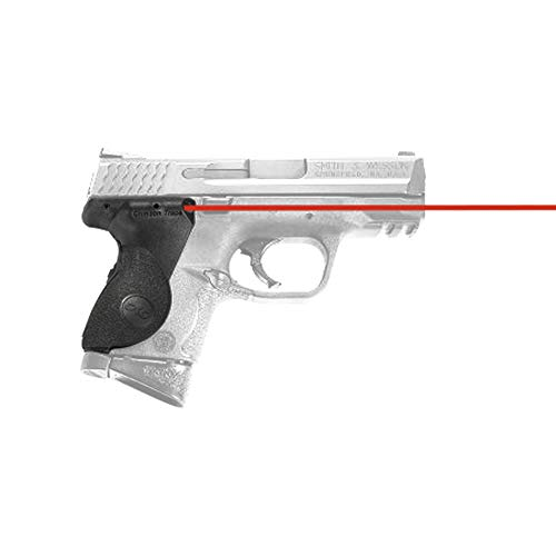 Crimson Trace LG-661 Lasergrips with Red Laser, Heavy Duty Construction and Instinctive Activation for Smith & Wesson M&P Compact Pistols, Defensive Shooting and Competition