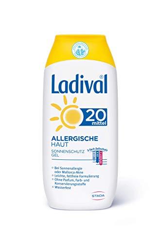 Ladival Allergische Haut Sonnenschutz Gel LSF 20 – Parfümfreies Sonnengel für Allergiker – ohne Farb- und Konservierungsstoffe – wasserfest – 1 x 200 ml