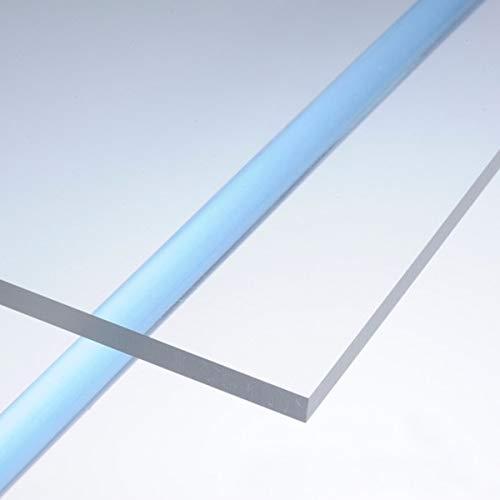 Lastra Plexiglass, Plexiglass Pannello Ultra Trasparente con Pellicola Protettiva Spessore di 3 Mm (100x50 cm)