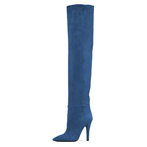 FSJ Women Sexy Thigh High Long Boots Over The Knee Cone High...