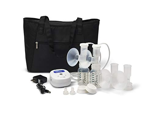 playtex breast pumps Ameda MYA Joy Double Electric Breast Pump with Large Tote Bag, Handsfree On-The-Go Lightweight Portable Breastfeeding Pump, Hospital Strength, Quiet Pumping w/The HygieniKit System