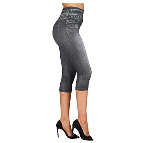 Lulupi Women Cropped Stretch Bengaline Trousers Ladies Work Office Crop Capri Pants Formal 34 Length Elasticated Leggings Pull On Casual Tailored Tregging Shorts Black