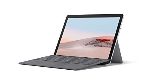 Microsoft Surface GO 2 10 Inch 2-in-1 Laptop and Tablet PC, Silver (Intel Pentium Gold Processor 4425Y, 8GB RAM, 128GB SSD, Windows 10, 2020 Model), with Surface Go 2 Type Cover, Charcoal