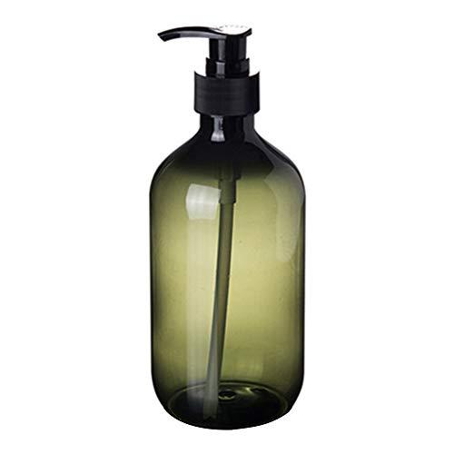 0Miaxudh Botella rellenable, 300/500 ml Loción Champú Soporte de Gel de Ducha Dispensador de Jabón, vacía Botella de Bombeo, plástico, Verde, 500 ml