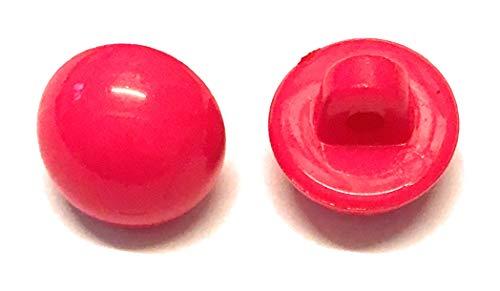 20 x 10 mm glanzende halve koepel schacht knoppen in een keuze van kleuren Roze