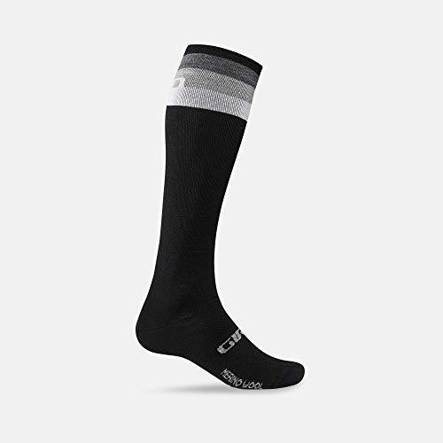 Giro Unisex – volwassenen Hightower Merino Wool fietskleding, zwart/grijs stripes, XL