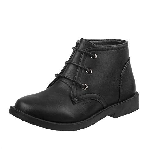 Joseph Allen Boys Desert Chukka Work Boot, Black Size 8'