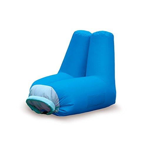 Balvi - Fauteuil de Plage Gonflable Cloud. Parfait pour la Piscine, la Plage ou Les Excursions. Très Facile à gonfler. Couleur Bleu.