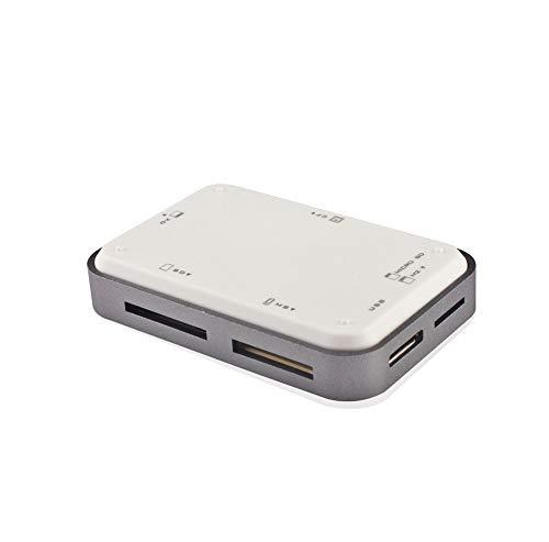 NENGLIJ Multifuncional Todo-en-uno Lector de Tarjetas USB, SD/TF Tarjeta de Memoria, Hecha del Material del ABS, Ideal for computadoras, teléfonos móviles, cámaras