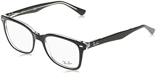 Ray Ban Optical Men's Rx5285 Top Black On Transparent Frame Plastic...