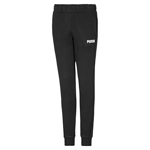 PUMA Essentials Mädchen Fleece Sweatpants mit Bündchen Cotton Black 140