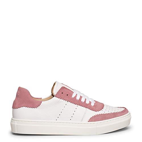 Zapatos miMaO. Zapatillas de Mujer Hechas en España. Zapatillas Blancas de Mujer con Piel Combinada