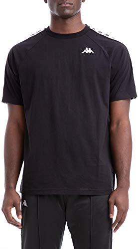 Kappa Uomo 222 Banda Coen T-Shirt, Nero, Large