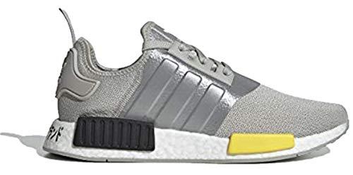 Originals Men's NMD_R1 Glow in The Dark Reflective Neon  Sneakers (Metal Grey/Yellow/Core Black, Numeric_11) - adidas EF4261