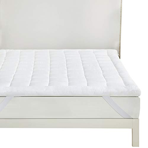 Bedsure Overfilled Mattress Cover Double - Washable Quilted Mattress Protector Mattress Topper, 135×190cm