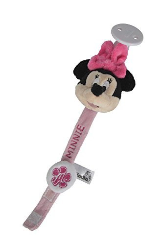 Simba 6315874806 - Disney Minnie Maus, Schnullerband, 20 cm, rosa