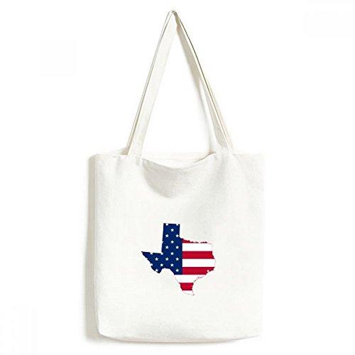 DIYthinker Die Vereinigten Staaten von Amerika USA Texas Karte Amerikanische Flagge Flagge Form Moderne Entwurf Tasche Umwelt Toten Große Geschenk Kapazität Einkaufstaschen