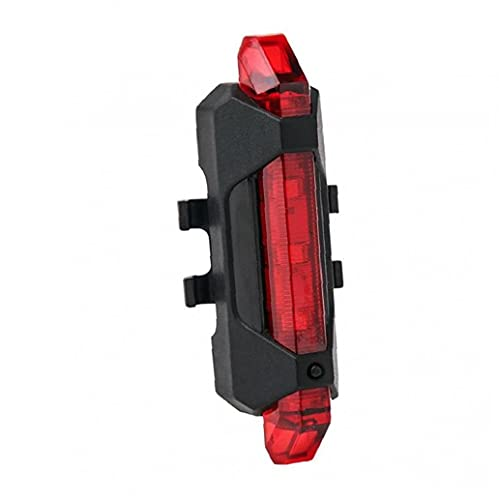 NaiCasy La Cola de la luz Trasera de la Bicicleta LED de luz Trasera USB Recargable Impermeable Advertencia de la luz Trasera de la lámpara de Seguridad (Rojo)