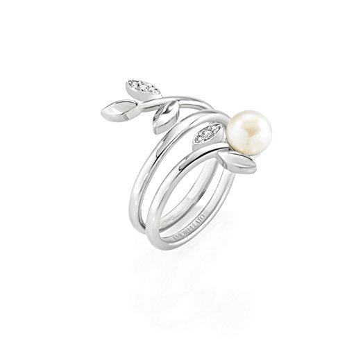 Morellato Anello da donna, Collezione Gioia, in acciaio, perle coltivate e cristalli - SAER26012