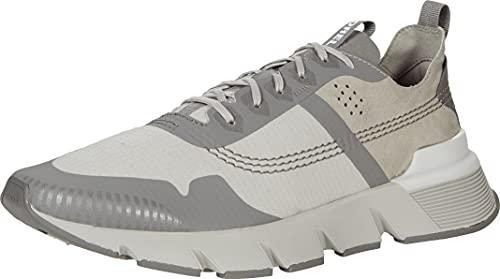 Sorel Men's Kinetic Rush Nylon Sneaker — Dove, Quarry — Leather & Nylon City Sneakers — Size 7.5