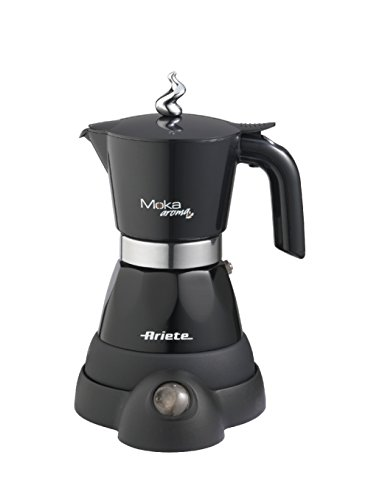 Ariete 1358 Moka Aroma elektrische Espressomaschine, (480 W) schwarz