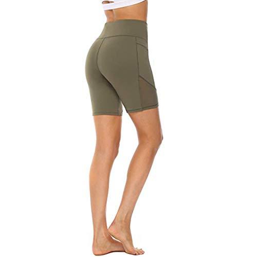 OPALLEY Kurze Sporthose Damen Leggins Kurz Radlerhose, Blickdicht & Taschen & High Waist Leggings für Sommer Sport Training Gym Yoga Fitness Yoga