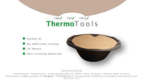 Thermotools Backpapier passgenau für den Thermomix - Varoma für TM6, TM5, TM31