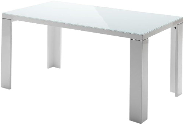 Robas Lund, Tisch, Esszimmertisch, Tizio, Hochglanz wei, 140 x 76 x 90 cm, 043140HW