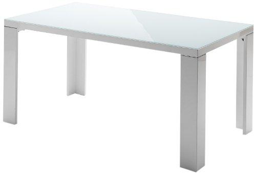 Robas Lund Tizio Table à Quatre Pieds, MDF, Blanc, 200 x 100 x 76 cm