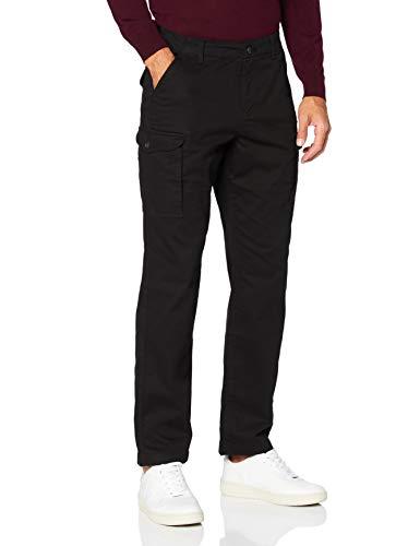 MERAKI Pantalón Chino de Algodón Hombre, Negro (Black), 33W / 32L, Label: 33W / 32L