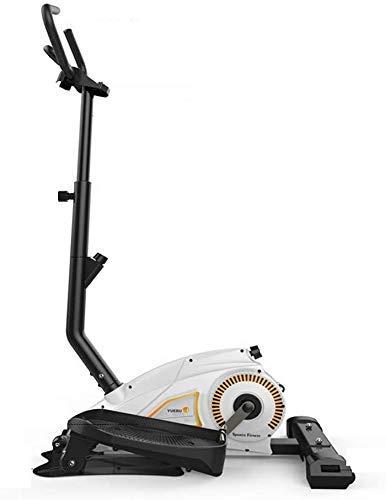 KANJJ-YU Bicicleta elíptica, Fitness Cardio Pérdida de peso de la máquina del entrenamiento, 2-en-1 elíptica de la bicicleta estática for uso particular con la pantalla de la consola, magnético sesión