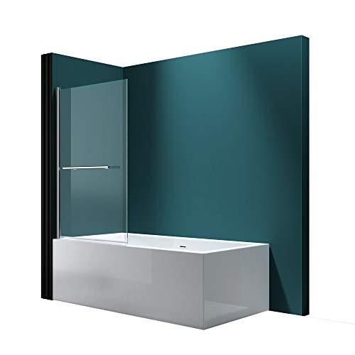 Faltwand Badewanne 90x140cm Badewannenaufsatz Duschwand 180° ESG Klarglas NANO C1121 Mai&Mai