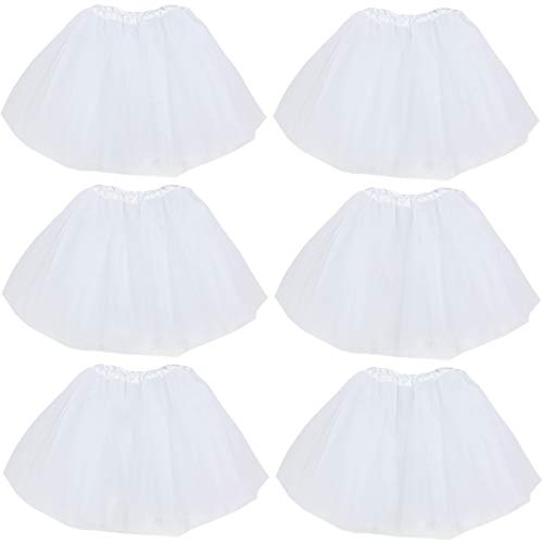 kilofly 6pc White Girls Ballet Tutu Kids Birthday Princess Party Favor Dress Skirt Set - http://coolthings.us