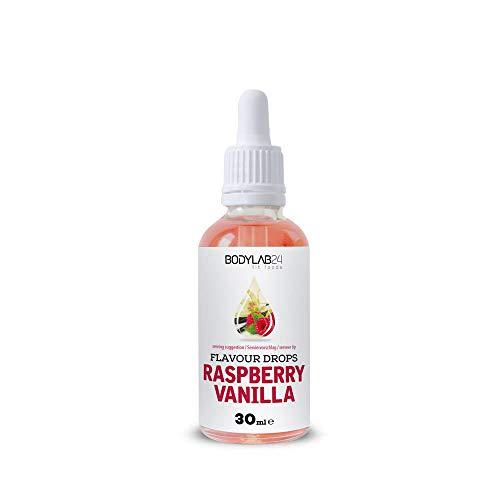 Bodylab24 Flavour Drops   30 ml   Raspberry Vanilla   Leckere, kalorienfreie Aromen für deinen Eiweißshake, Smoothie, Joghurt, Quark oder zum Backen