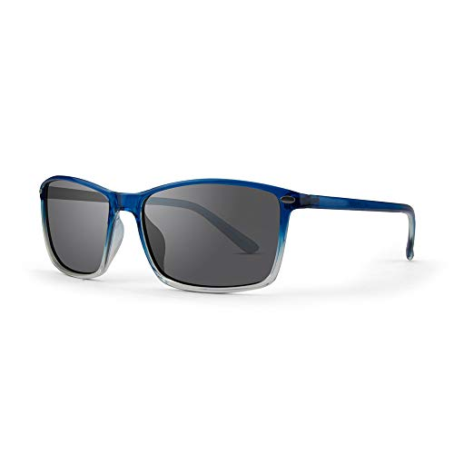 Epoch 11 Sport Cycle Sunglasses Blue Fade Frame with Polarized Smoke Lens, Adult