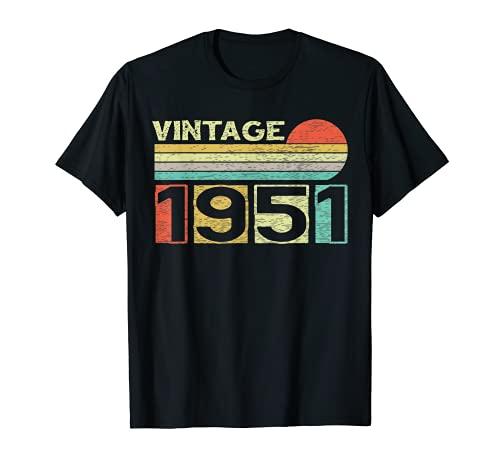 Vintage 1951 70th Birthday Gift Men Women 70 Years Old T-Shirt