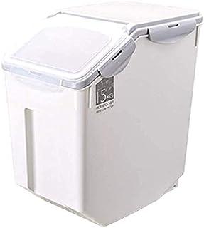 XJZKA Conteneur de Stockage de Riz de 15KG Boîtes de Rangement de Cuisine scellées étanches à l'humidité pour Le Stockage ...