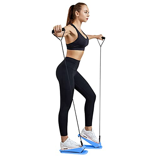 Mini Home Fitness Stepper-Home Office Twisting Walker Fitnessgeräte Home Weight Loss Stepper Fitness Treppe Stepper Fitness Stovepipe Maschine Stepper Climber Fitness Maschine (Blau)