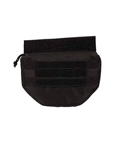 MIL-TEC ドロップダウンポーチ MOLLEシステム搭載 プレートキャリアベスト対応 IDパッチ - BLACK