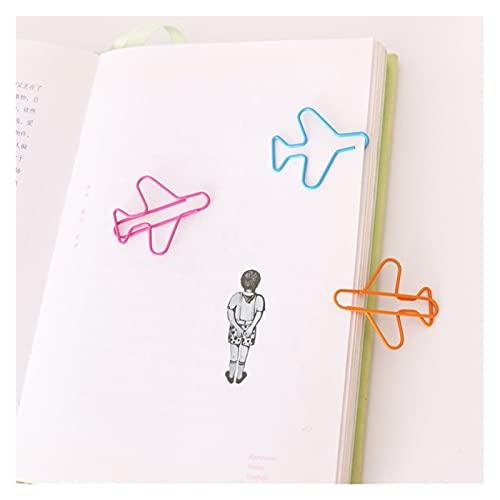 xuyang 12 unids/lote creativo nuevo avión metal 3 colores clips de papel lindo avión clip oficina escuela papelería suministros