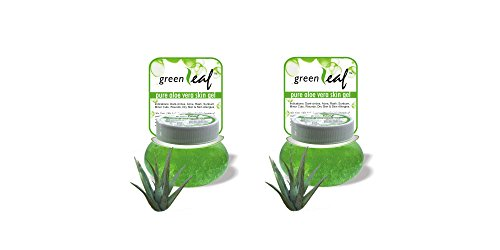 Pack of 2 - Brihans Green Leaf Pure Aloe Vera Skin Gel(125gms x 2)