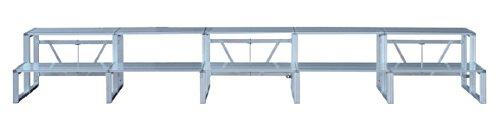 アルミひな段 2段5連セット(段上約26人)(W4553×D800×H625mm)  NHS-245
