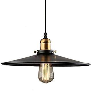 Mengjay Industriel E27 Suspension Luminaire de Plafond Abat-jour en Métal, Rétro Plafonniers Lustre Décoration pour Cuisin...