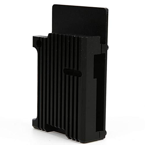 ヒートシンクケース、アルミニウム合金ケース、ラズベリーパイ4モデルB / B +オープンデザイン用の標準サイズの金属ハウジング信頼性の高い黒