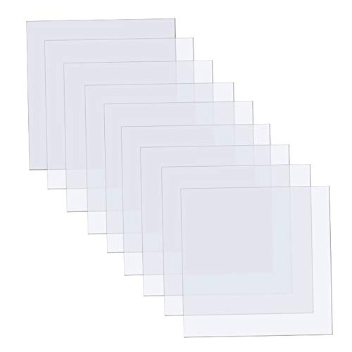15 Pieces Blank Stencil Sheets, 12 x 12 Inch Clear Blank Material Mylar Templates, Square Blank...