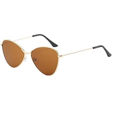 SUNyongsh Sunglasses for Men Women Polarized Metal Mirror Semi-Rimless Frame Glasses