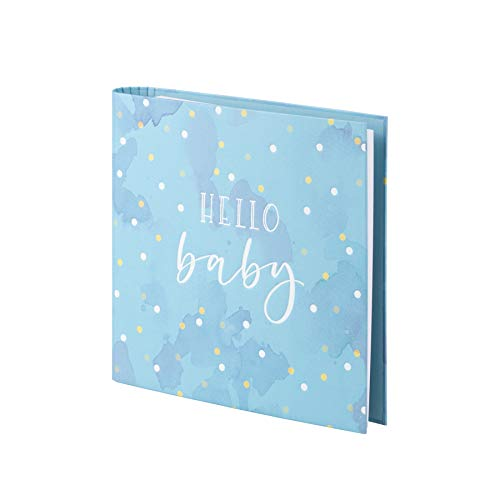 Rössler 13161438008 Fotoringboek met hete folie 'Hello Baby', 2-ring-mechaniek, 50 pagina's jongens
