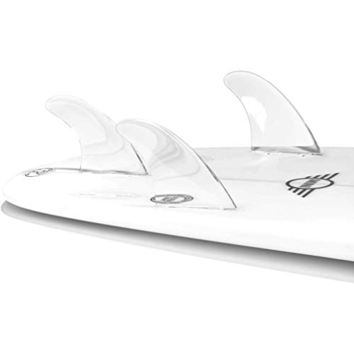Dorsal Performance Flexrez Core Surfboard Thruster Surf Fins (3) FCS Compatible Clear