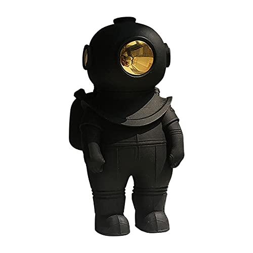 Statues Resin Astronaut Figurines Fashion Spaceman Sculpture Decorative Creative Gift Miniatures Cosmonaut Statues Toys, Gifts,Ornaments,Fashion,Resin,Astronaut,Figurines,Craft,Statues (Black)